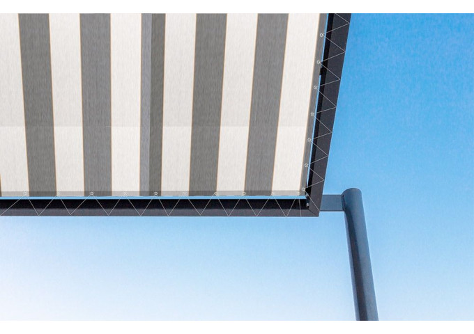 Toile de pergola new-york gris Sauleda Sensation 2174