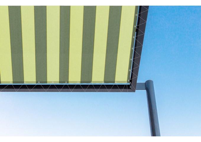 Toile de pergola orlando vert Sauleda Sensation 2191