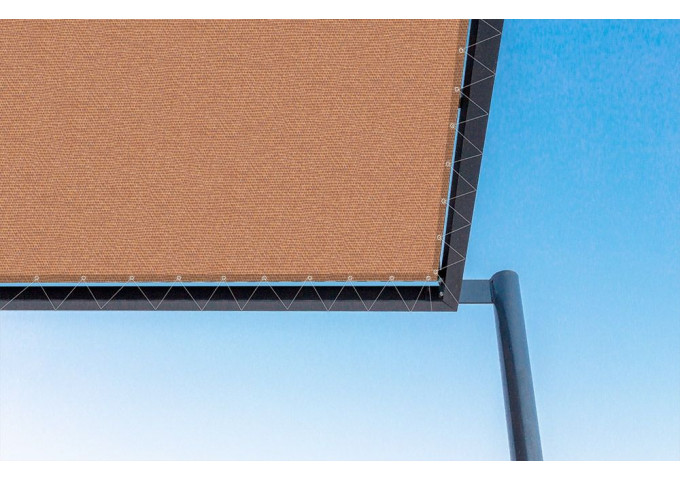 Toile de pergola cobre-r orange Sauleda Sensation 2690