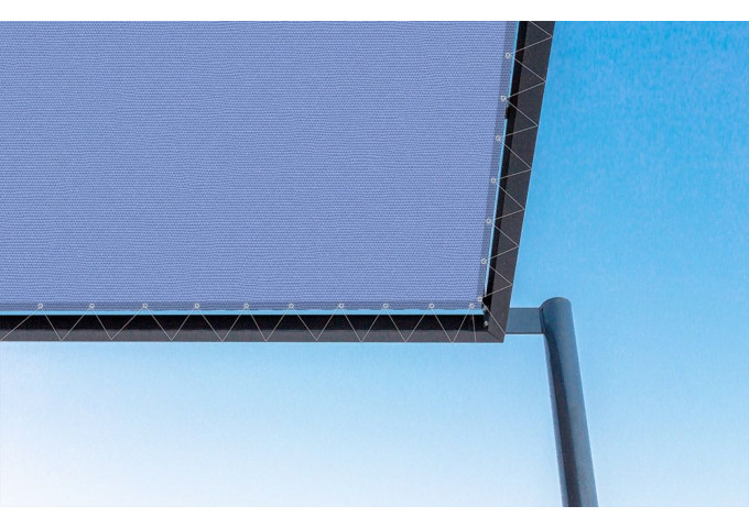 Toile de pergola indigo-r bleu Sauleda Sensation 2828