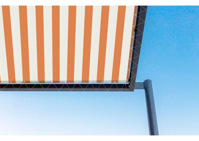 Toile de pergola Orange-Blanc orange Sauleda Sensation 2052