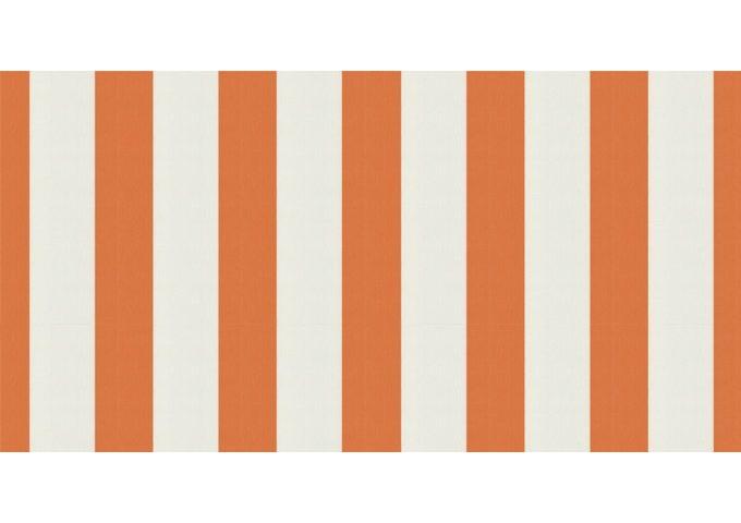 Toile au mètre Orange-Blanc orange Sauleda Sensation 2052