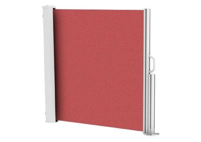 Brise vue rétractable ultra résistant avec toile Soltis 92 rouge velours 2152