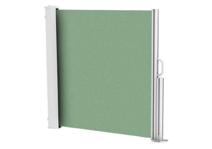 Brise vue rétractable ultra résistant avec toile Soltis 92 vert mousse