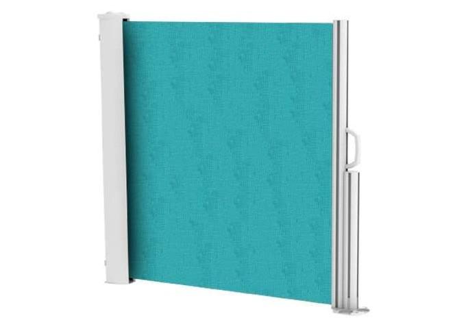 Brise vue rétractable ultra résistant avec toile Soltis 92 turquoise intense 50271