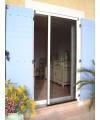 Moustiquaire latérale plissée 2 vantaux pour porte sur mesure