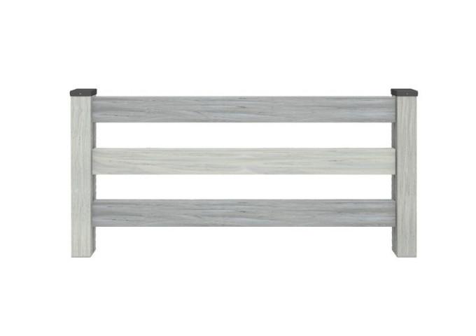 Clôture PVC ajourée Tyrel Gris cérusé 150