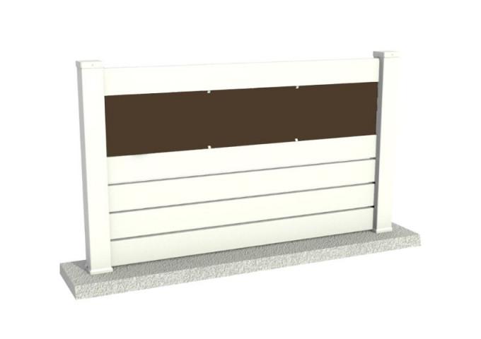 Clôture PVC ajourée Bolton plaque marron