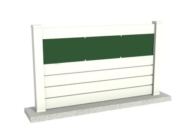 Clôture PVC ajourée Bolton plaque verte