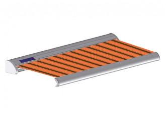 Store solaire avec coffre modèle SOLAR sur mesure, toile chantilly Dickson orchestra 0744, jusqu'à 5m90 x 3m