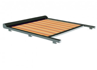 Store véranda Classic sur mesure sur mesure, toile woodstock Dickson orchestra 8609, jusqu'à 5m x 4m20