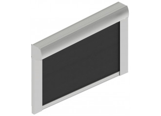 Store à descente verticale avec guide en aluminium