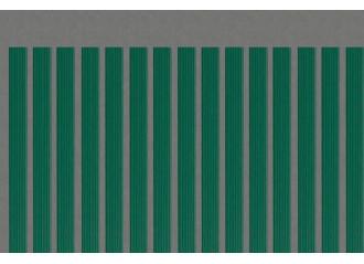 Lame occultante verte en PVC pour maille 50mm