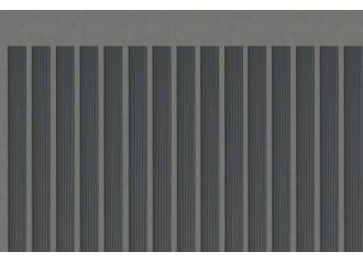 Lame occultante grise en PVC pour maille 50mm