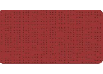 Toile au mètre serge ferrari rouge  928255 soltis 92