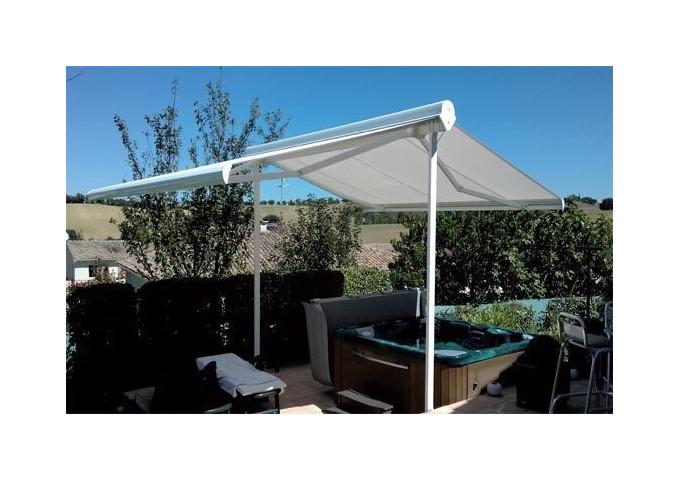 Store double pente pour abri terrasse